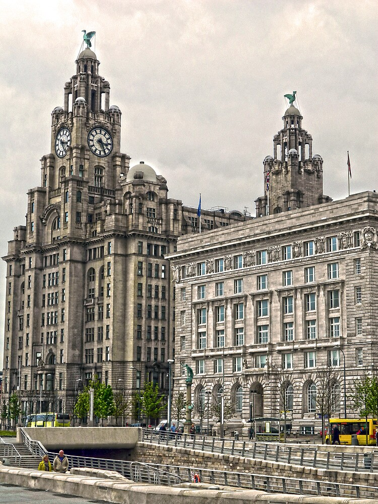 The Liver Buildings - Liverpool by DavidWHughes