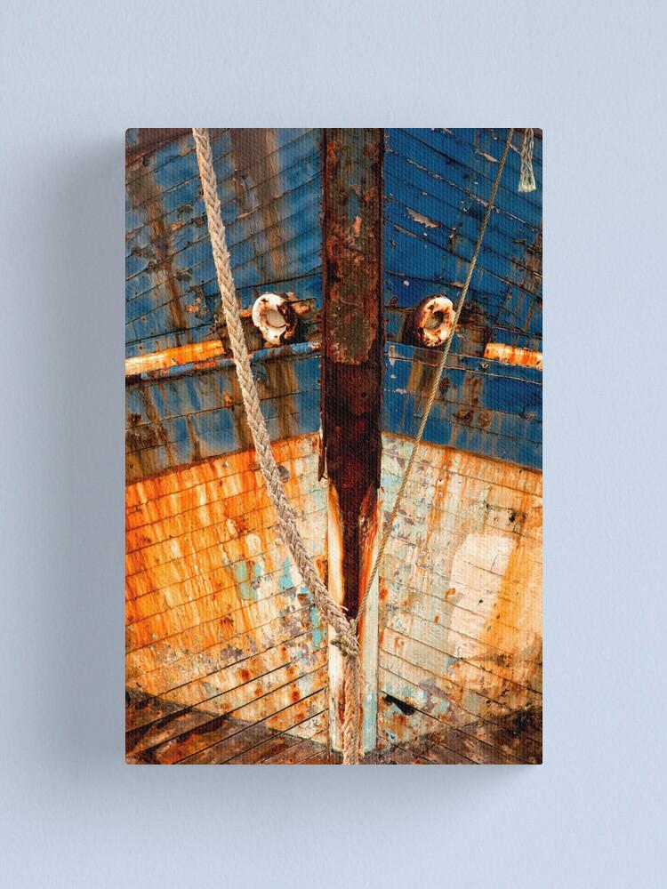 Alternate view of Ships Bow, Camaret sur Mer  2012 Canvas Print