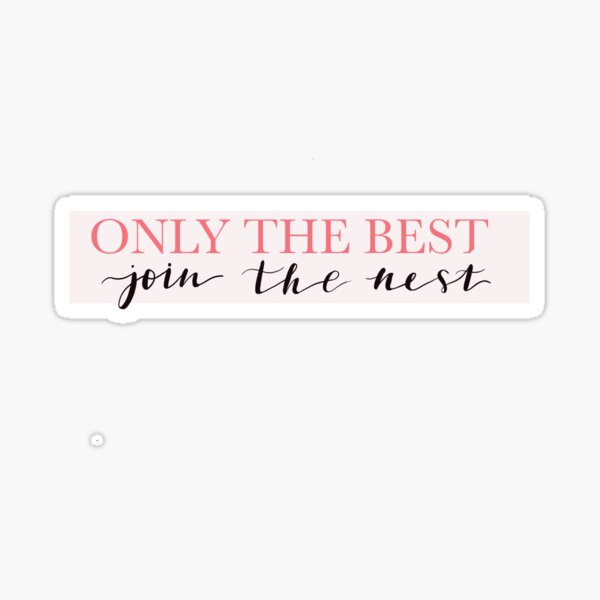 CHIO Only the Best Join The nest Hootie Sticker Sticker