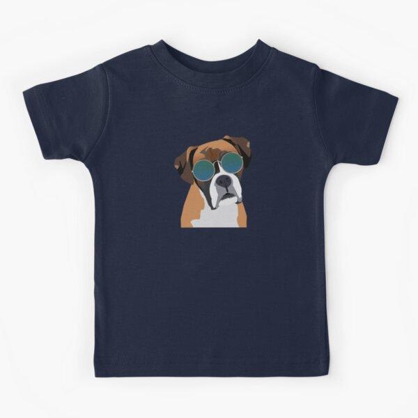 Boxer Dog wearing Sunglasses Kids T-Shirt