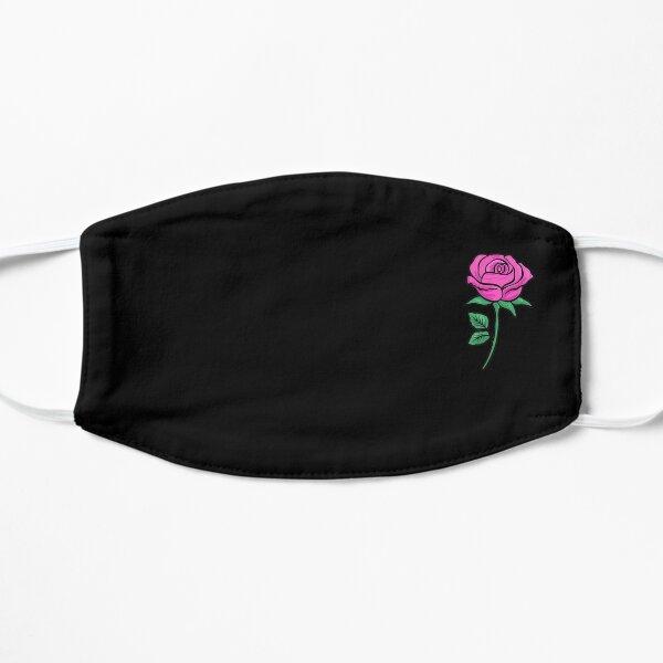Pretty Pink Rose Mask  Flat Mask