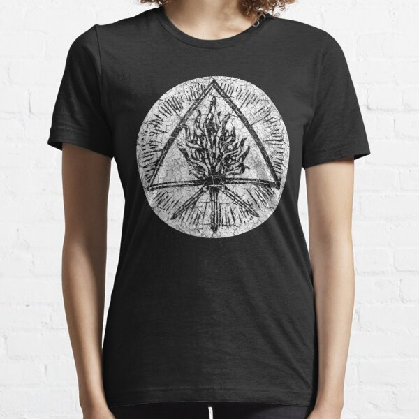 ANCIENT FIRE SYMBOL - extreme white distress *awesome UNLISTED designs in my portfolio* Essential T-Shirt