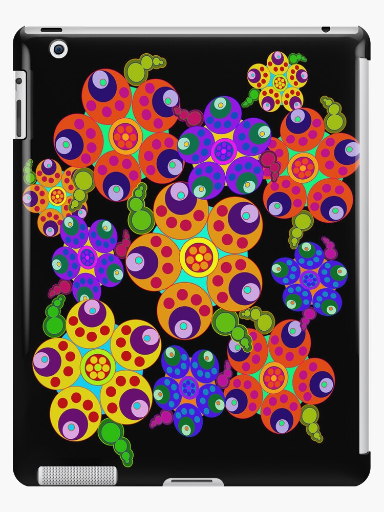 Carnival Colors Flowers iPad Case by CheriesArt