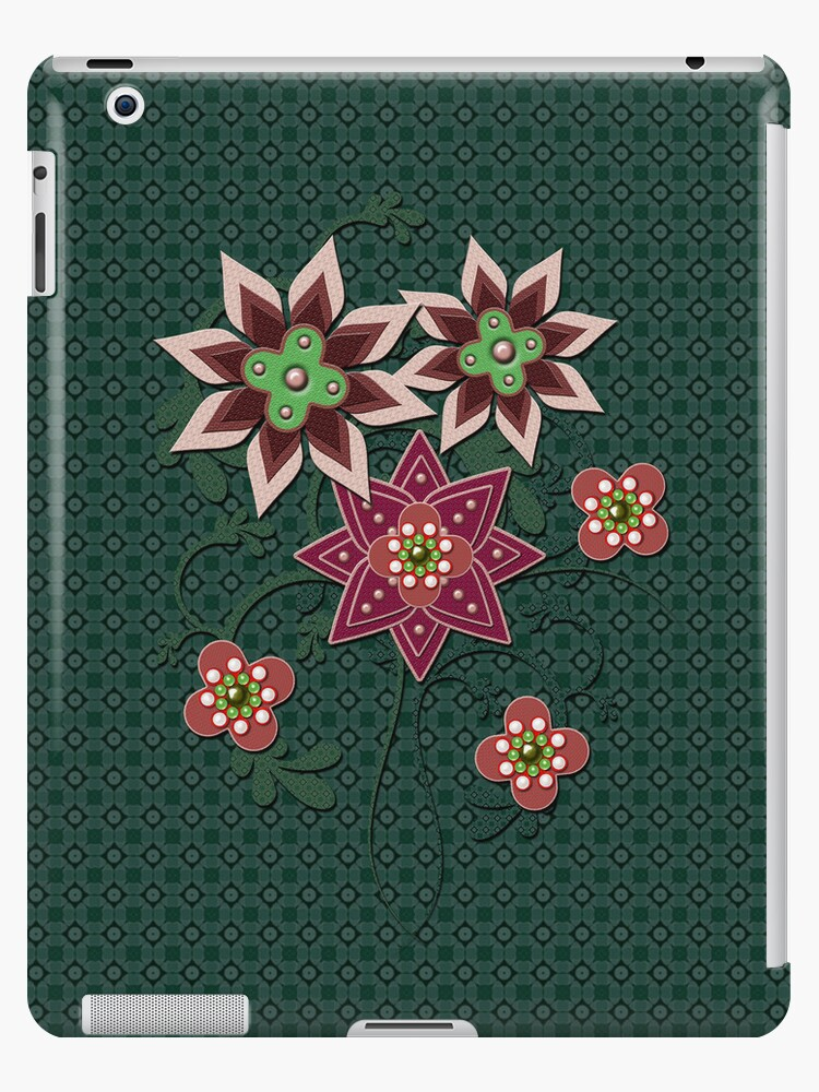 Floral Pattern iPad Case by CheriesArt