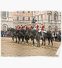 The Queens Red Horseguards Poster