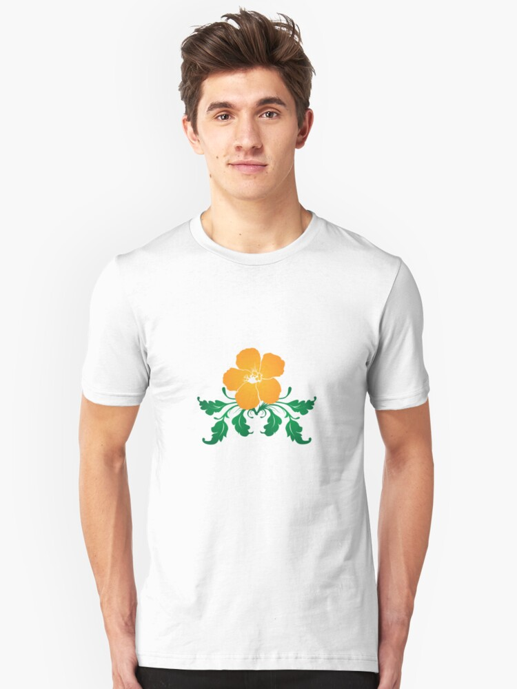Vector Flower with Flourishes Unisex T-Shirt Front