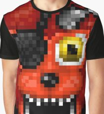Adventure Withered Foxy - FNAF World - Pixel Art Graphic T-Shirt