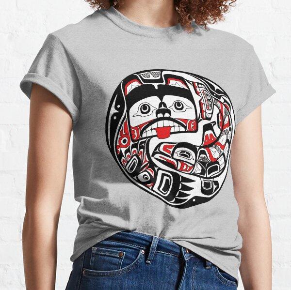 Tlingit style Bear and Salmon PNW Native art Classic T-Shirt
