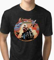 Motorcycles and dinosaurs Tri-blend T-Shirt