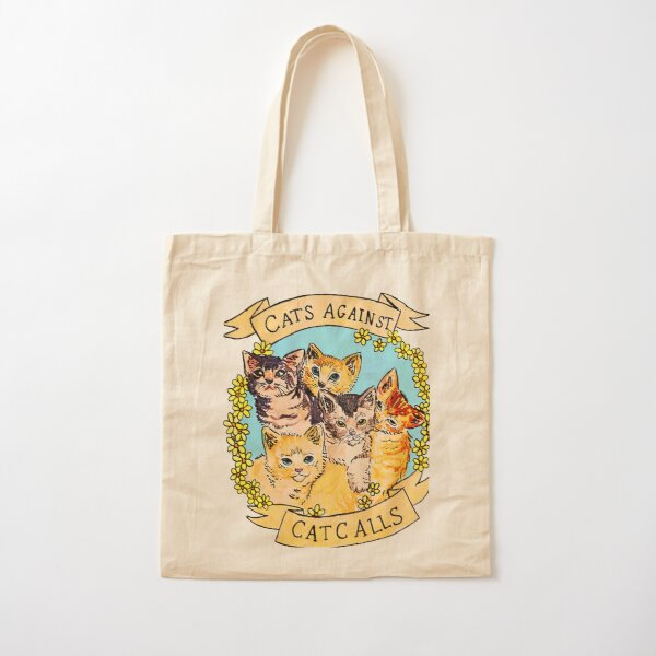 Cats Against Cat Calls V2 Cotton Tote Bag