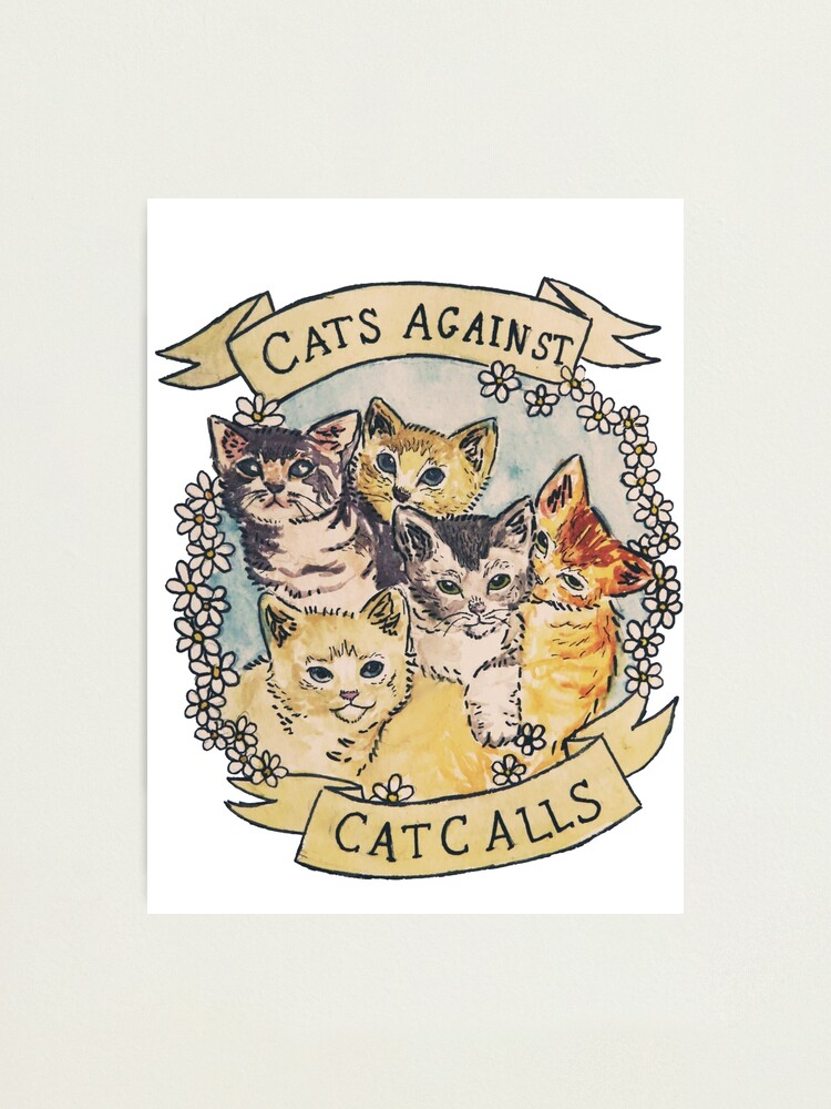 Alternate view of Cats Against Cat Calls ORIGINAL (SEE V2 IN MY SHOP) Photographic Print