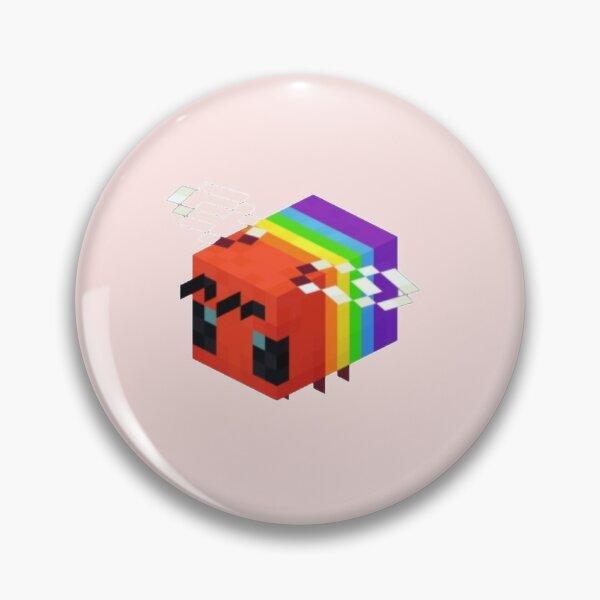 Minecraft LGBTQ+ Bee Pin