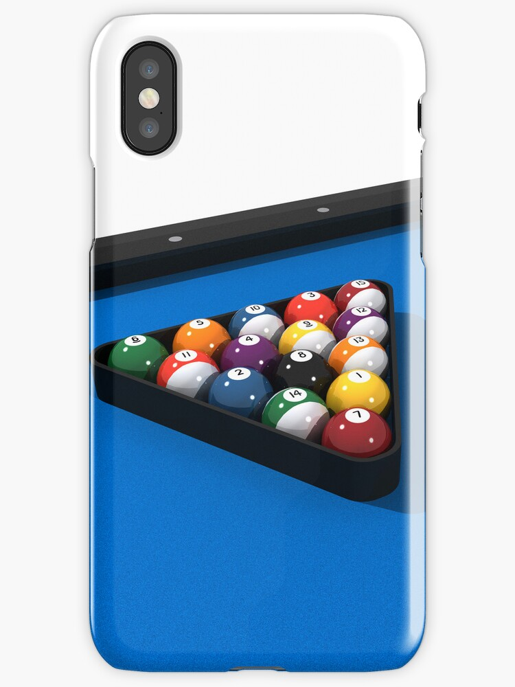 Billiards / Pool Balls on Table by bradyarnold