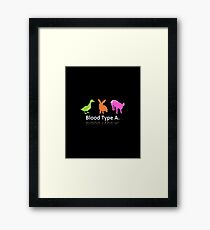 TYPE A Framed Print