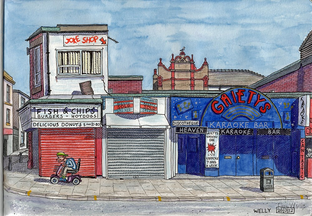 Gaiety Bar and chippy by Tim Wells