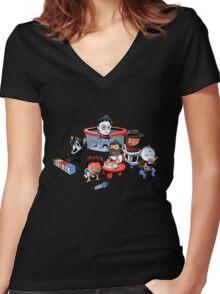 Little Killers Women's Fitted V-Neck T-Shirt