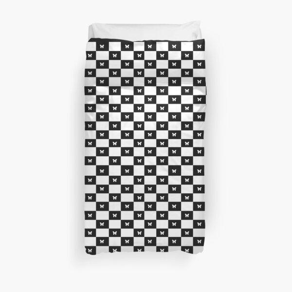 Butterfly checkerboard Duvet Cover