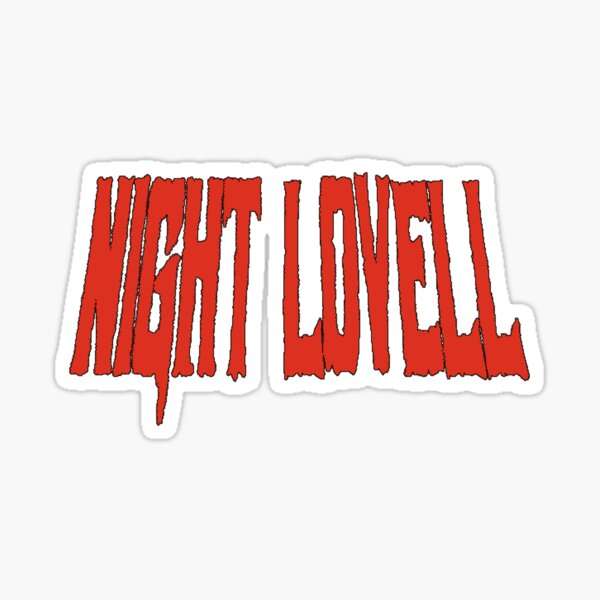 Night Lovell Font Sticker