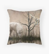Woodland Wolf refelected Throw Pillow