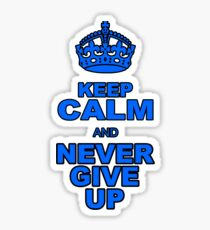 KEEP CALM AND NEVER GIVE UP Sticker