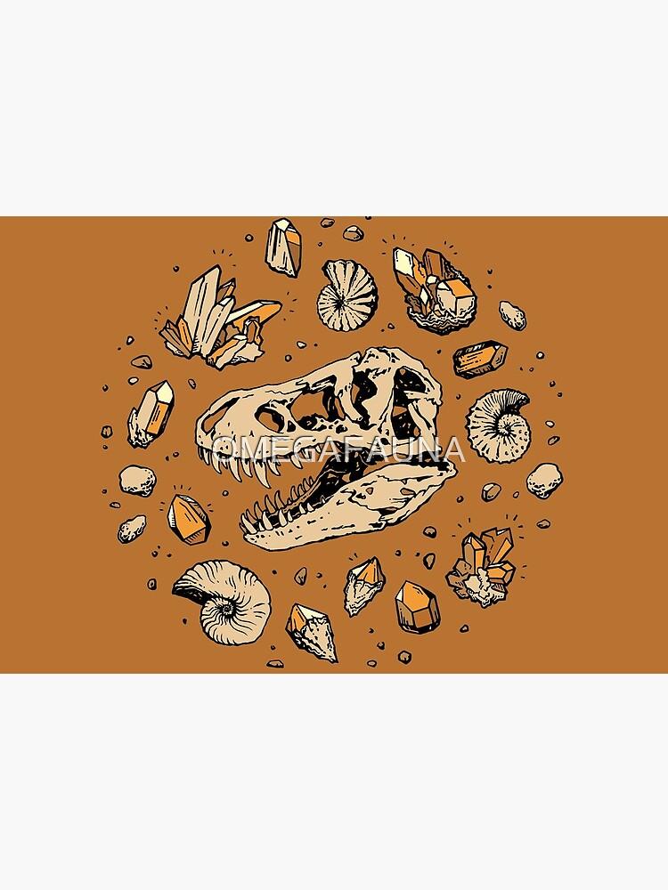 Geo-rex Vortex | Citrine Quartz | Dinosaur Fossil Art by OMEGAFAUNA