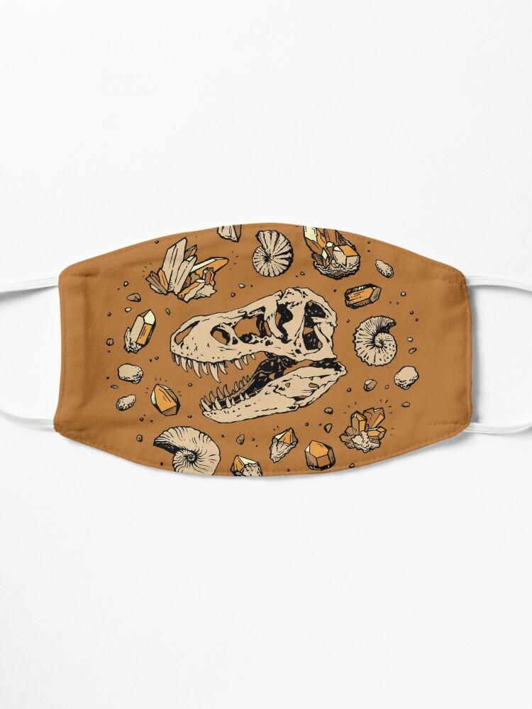 Alternate view of Geo-rex Vortex | Citrine Quartz | Dinosaur Fossil Art Mask