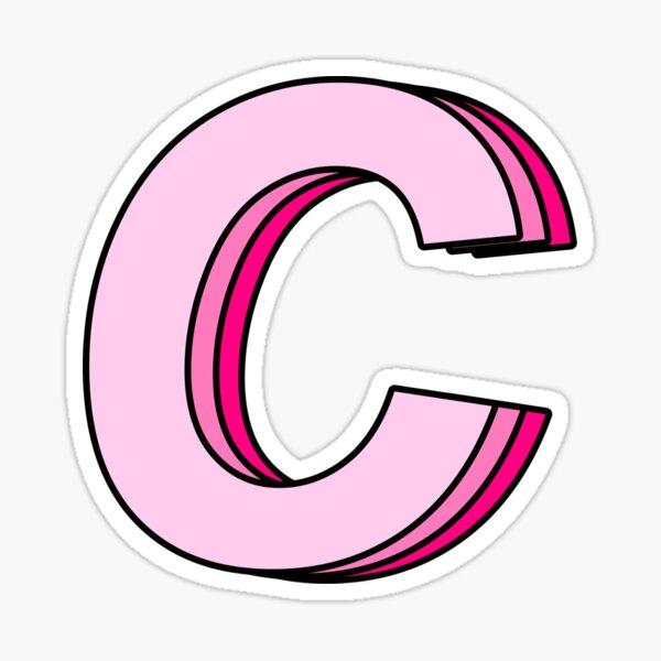 pink C Sticker