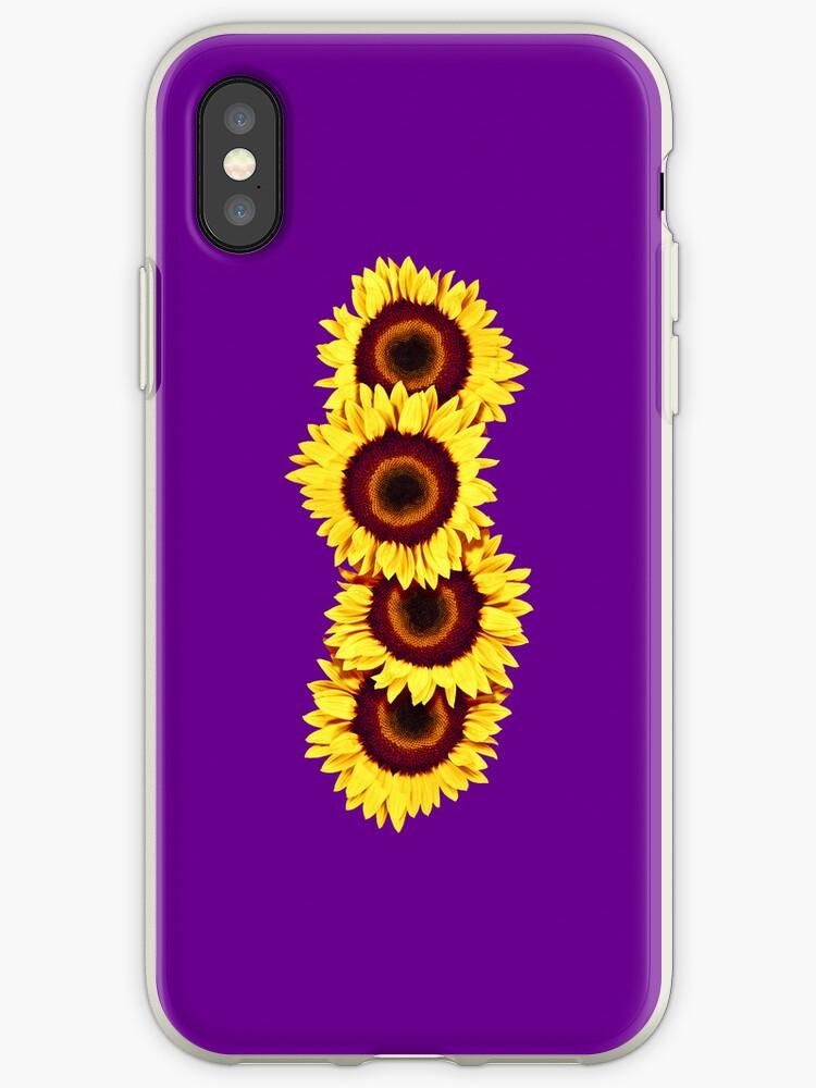 Iphone Case Sunflowers - Purple Haze by mpodger
