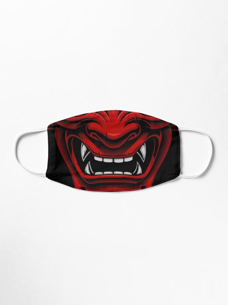 Alternate view of Japanese Oni Demon Mask Mask