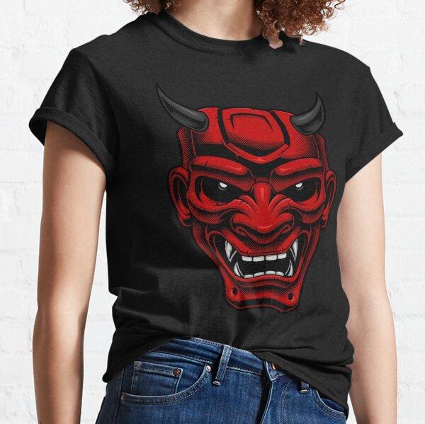 Máscara de demonio oni japonés Camiseta clásica