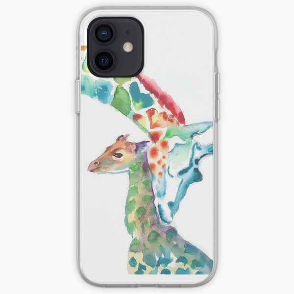 Giraffe Mommy and Baby iPhone Soft Case
