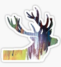 Abstract colorful Antler painting Sticker