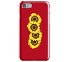 Iphone Case Sunflowers - Racy Red iPhone Case/Skin