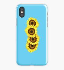Iphone Case Sunflowers - Light Blue iPhone Case