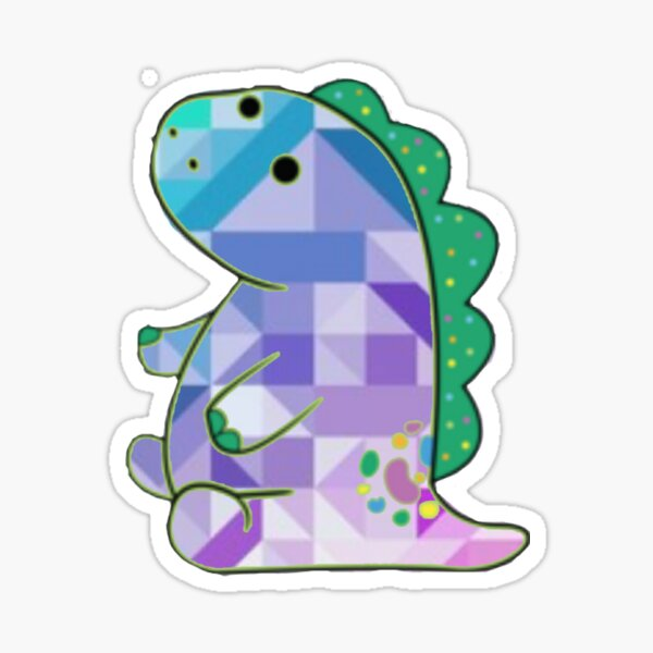 Geometrical pickle the dinosaur  Sticker