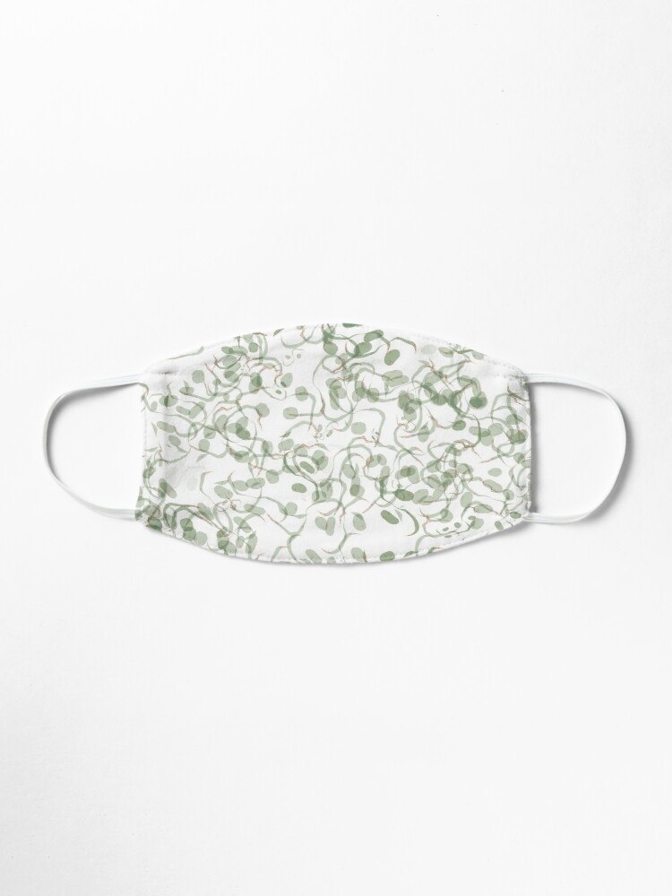 Alternate view of Green Vines and Leaves Pattern Mask