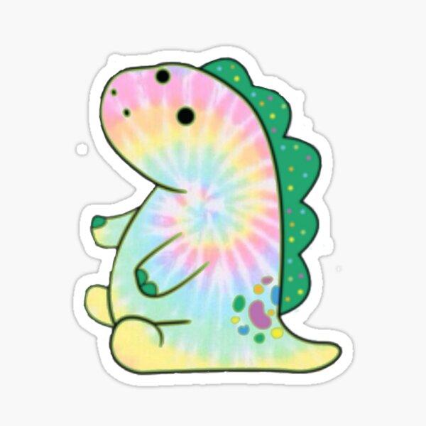 Rainbow tie dye pickle the dinosaur  Sticker