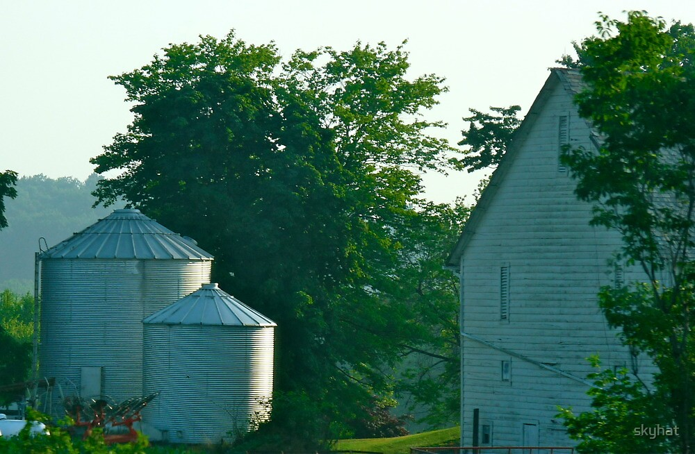 Silo and Farmhouse by skyhat
