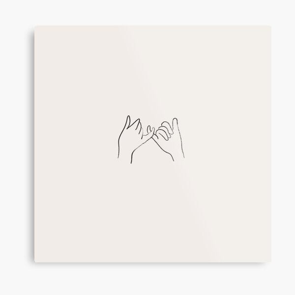 The Pinky Promise Metal Print