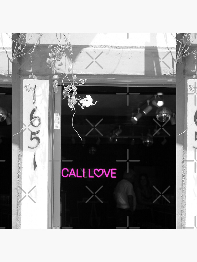 Cali Love Neon Sign in Darkened Bar Hot Pink Selective Coloring by ButterflysAttic