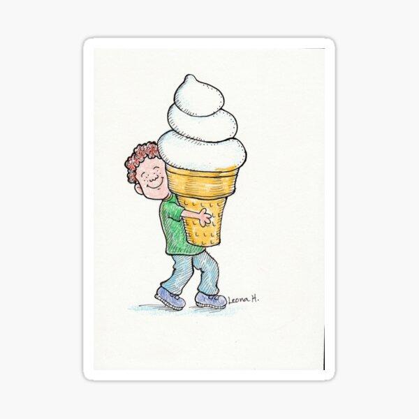 Super Big Cone, Little Kid-Ice Cream Lover! Sticker