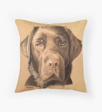 Rosie the beautiful chocolate labrador Throw Pillow