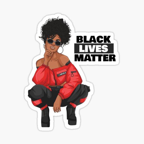 Women in Black Lives Matter Sticker