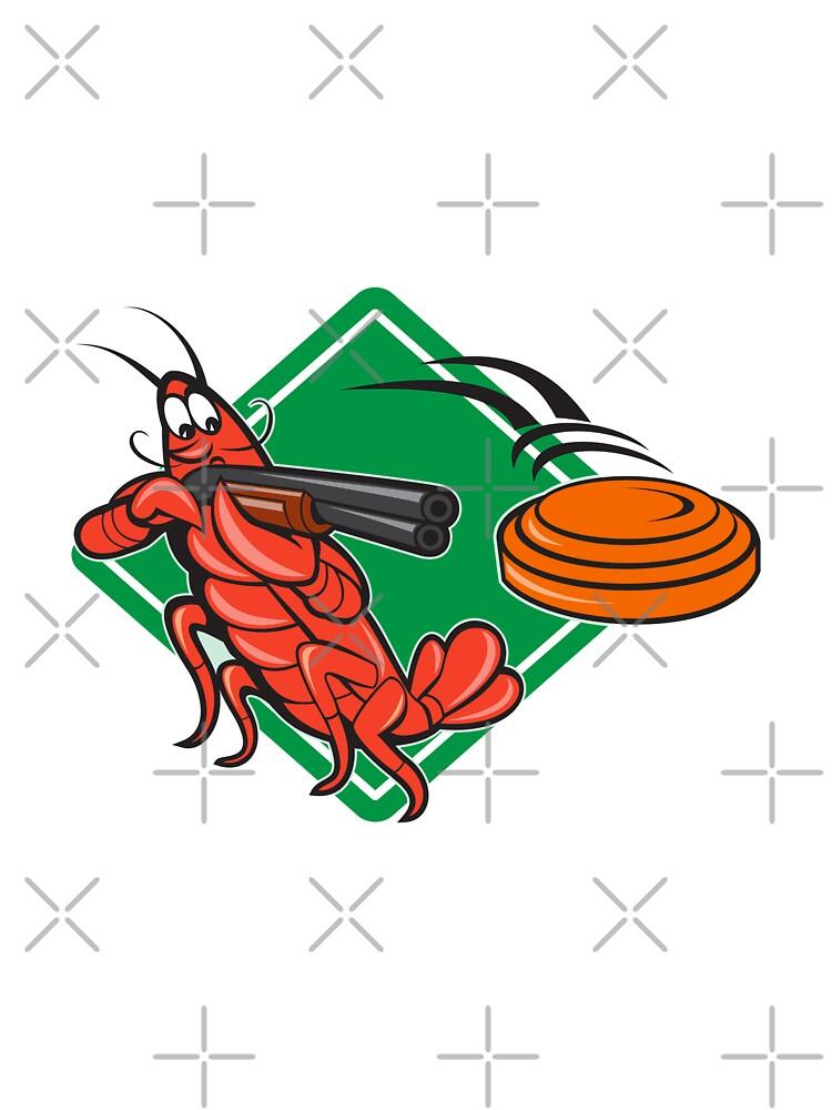 Crayfish Lobster Target Skeet Shooting  by retrovectors