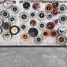 Retro clocks on the wall by naphotos