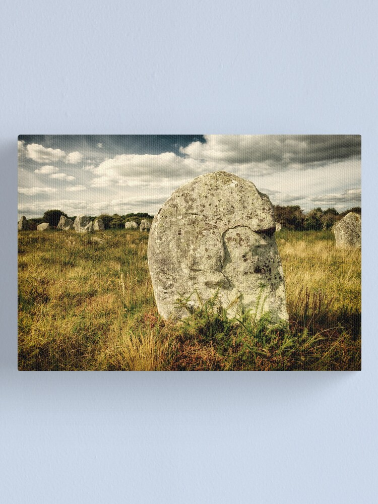 Alternate view of Spirit in Stone, Carnac 2012 Canvas Print