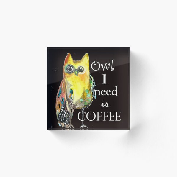 Coffee Acrylic Block