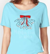 Mistletoe likes to watch T-SHIRT  Women's Relaxed Fit T-Shirt