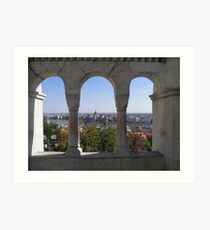 Budapest - View of Parliament on Danube Art Print