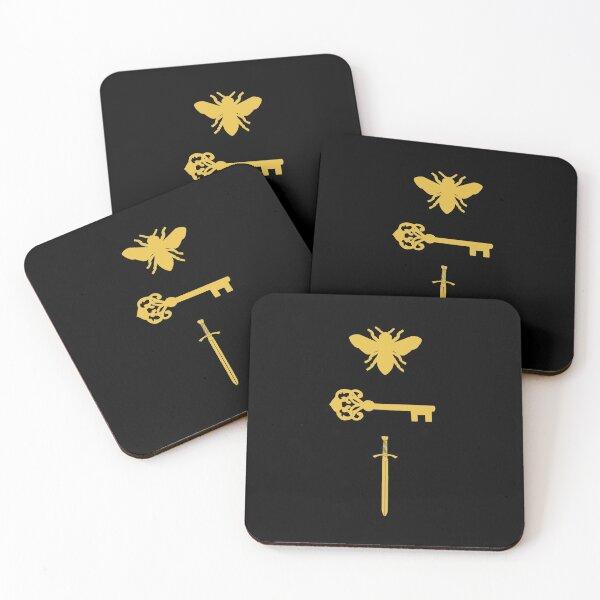 The Starless Sea Bee Key Sword Coasters (Set of 4)